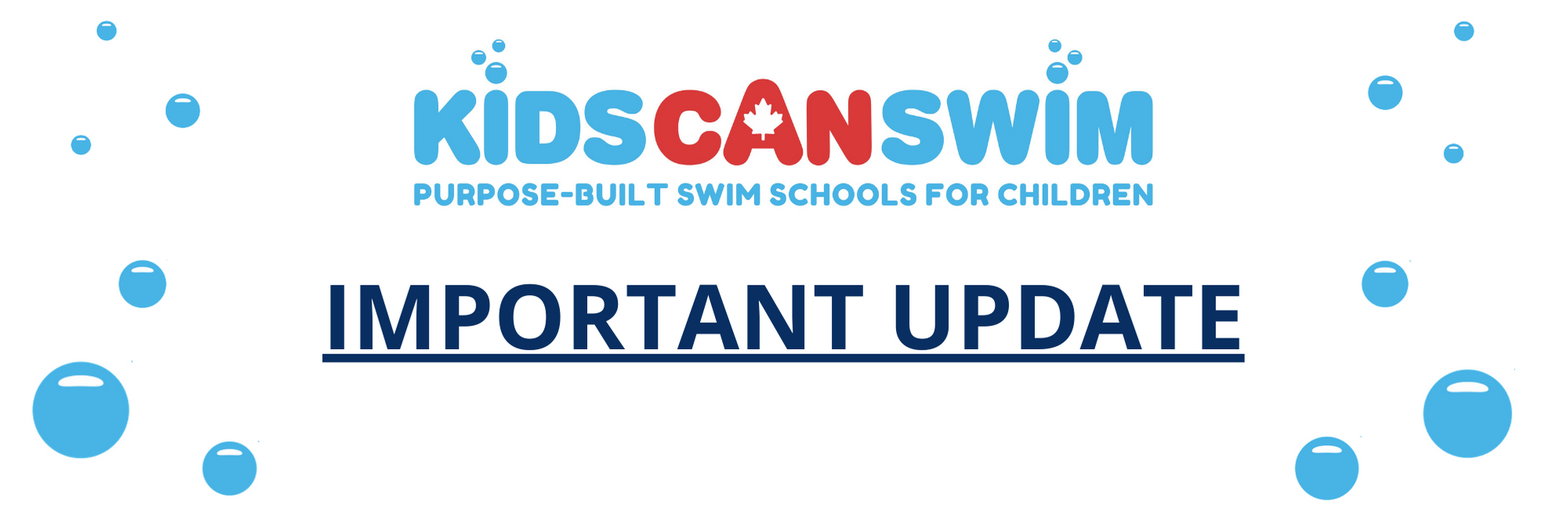 IMPORTANT UPDATE FROM KIDSCANSWIM