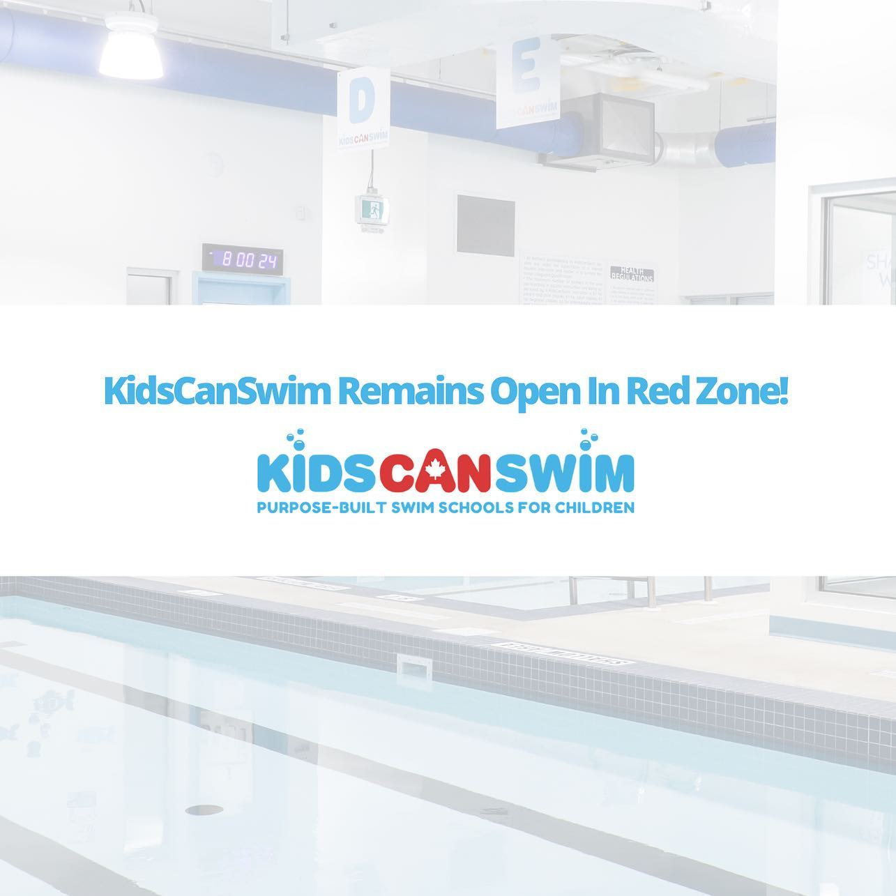 KidsCanSwim Will Remain Open As Ottawa Moves To The Red Zone