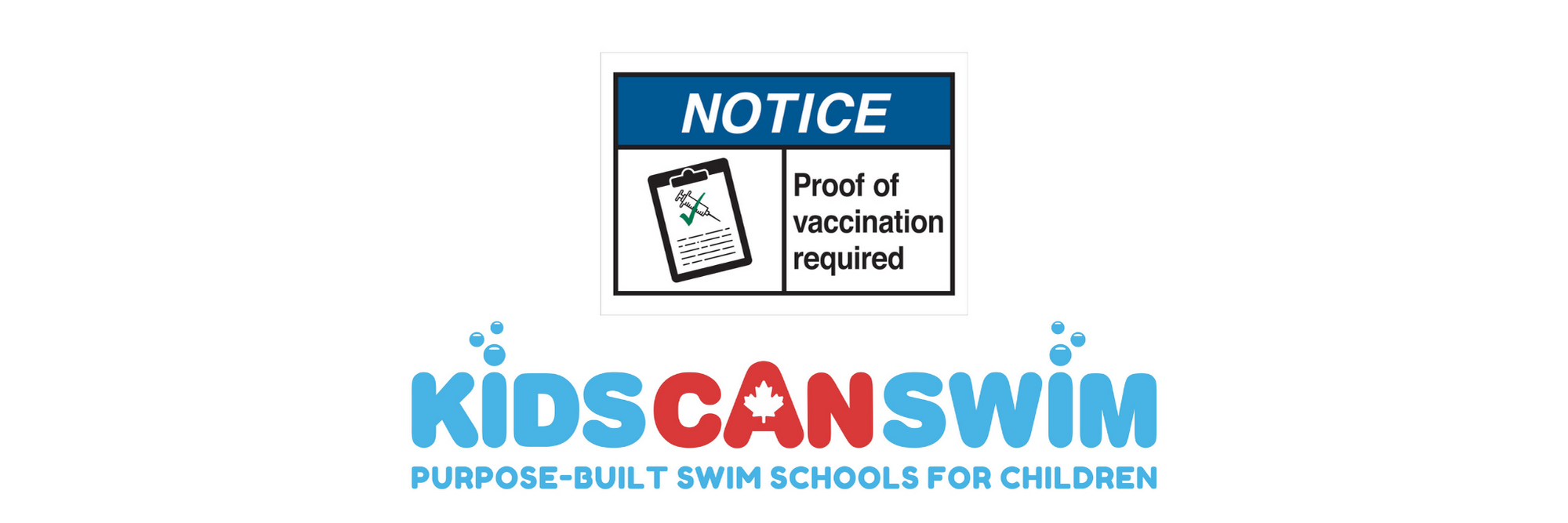 KidsCanSwim Required By The Government Of Ontario To Introduce Mandatory Vaccination Policy For Adult Guests